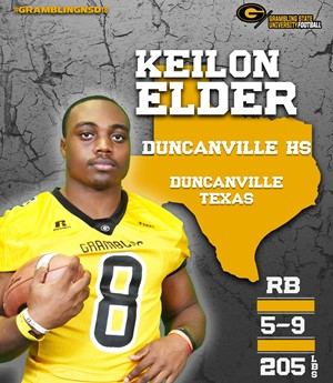 Keilon Elder Football Grambling State University Athletics