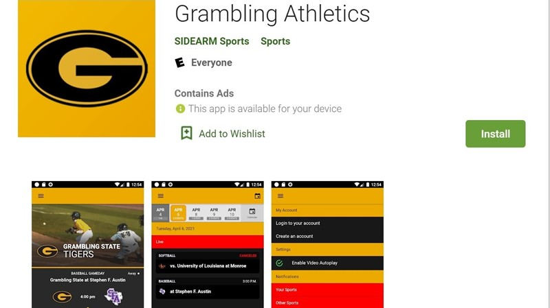 Grambling launches revolutionary athletics app during Bayou Classic; free on IOS and Android devices - Grambling State University Athletics